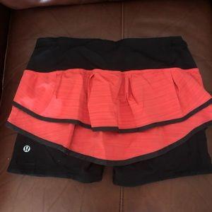 Red lululemon skirt